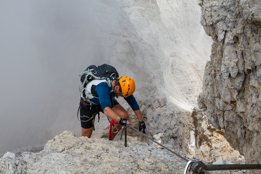 Via Ferrata-klatring I Dolomittene