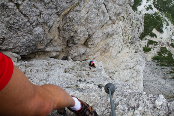 Via ferrata Sci Club 18, Mt Faloria